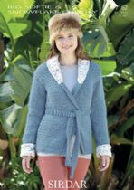 Sirdar Big Softie - 7162 Shawl Collared Jacket Knitting Pattern